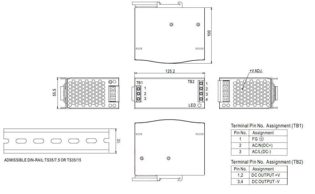 مشخصات مکانیکی DR-75-24