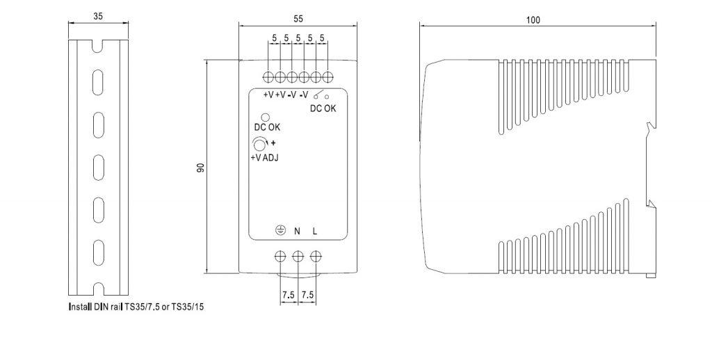 مشخصات مکانیکی MDR-100-24