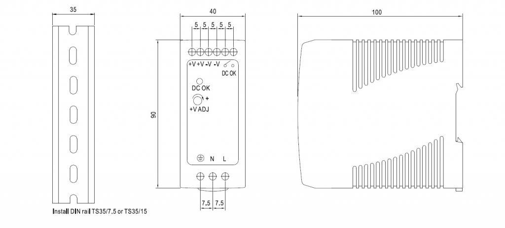 مشخصات مکانیکی MDR-60-24