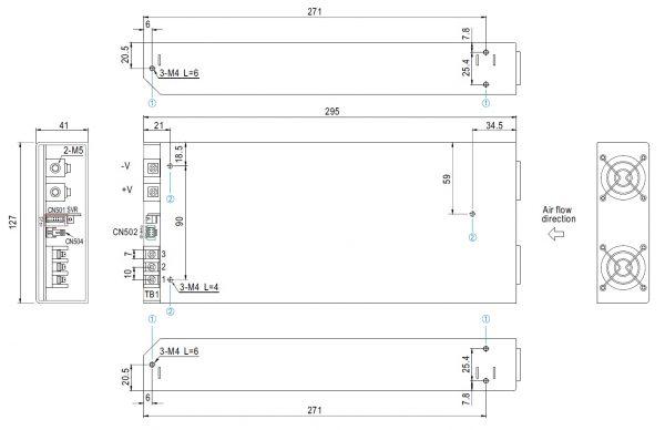 مشخصات مکانیکی RSP-2000-48