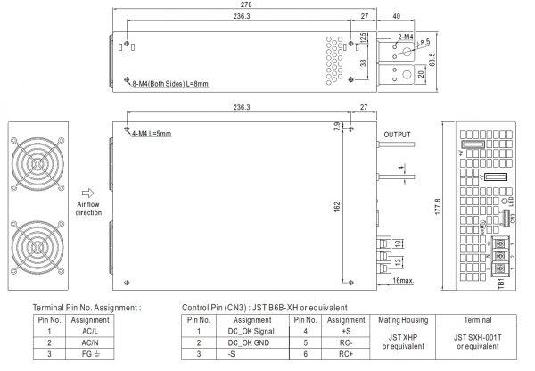 مشخصات مکانیکی SE-1500-24