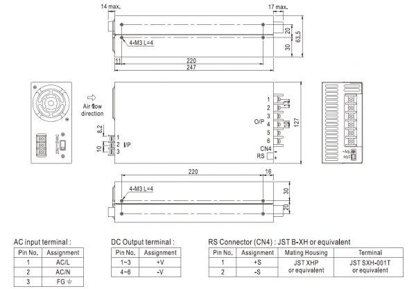 مشخصات مکانیکی SE-600-12