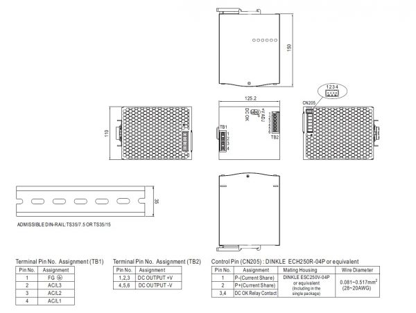 مشخصات مکانیکی TDR-960-24