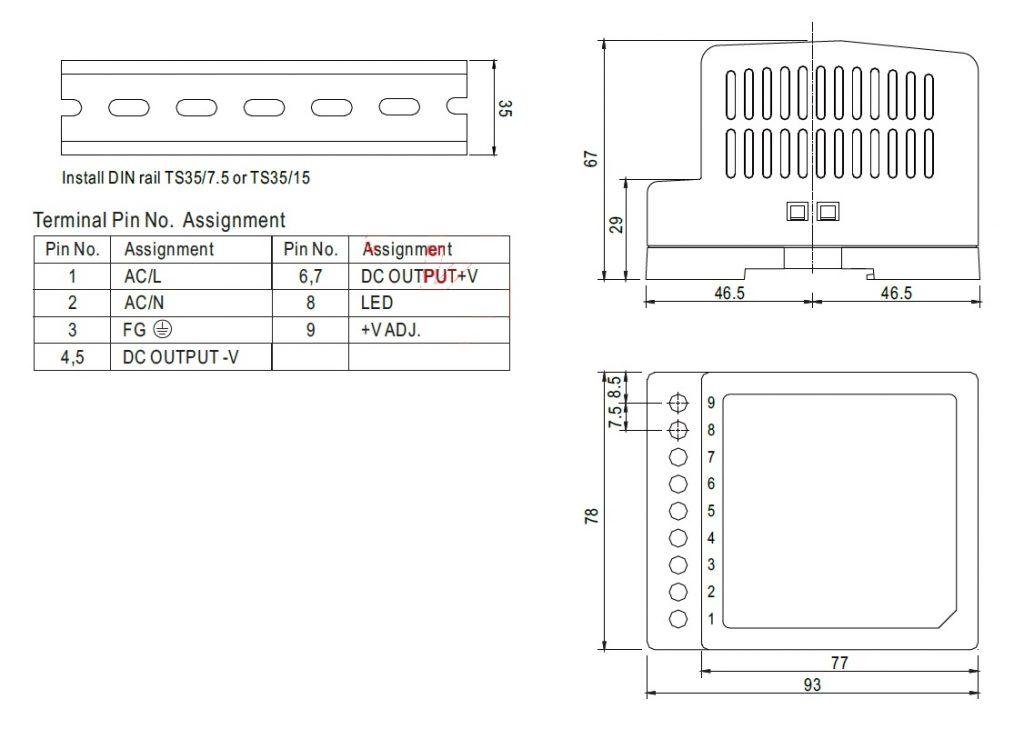 مشخصات مکانیکی DR-45-24