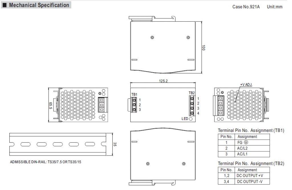 مشخصات مکانیکی DRH-120-24