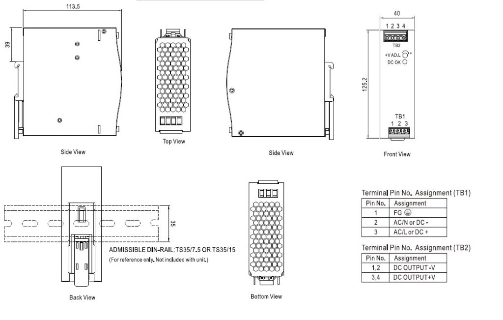 مشخصات مکانیکی EDR-150