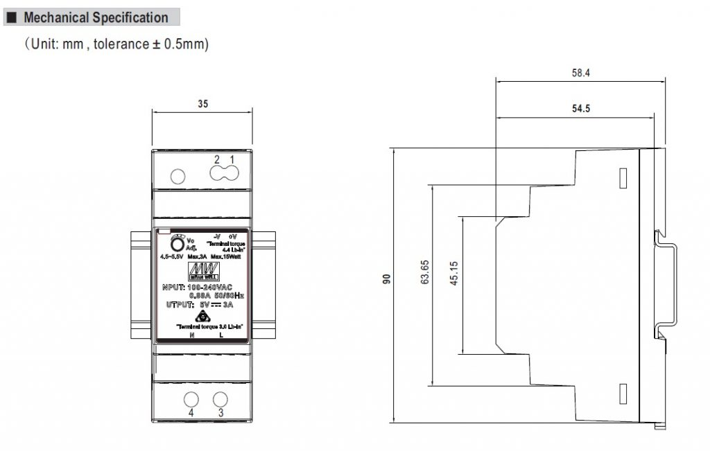 مشخصات مکانیکی HDR-30-24