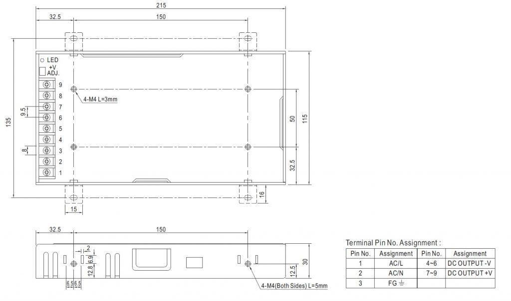 مشخصات مکانیکی LRS-200-24