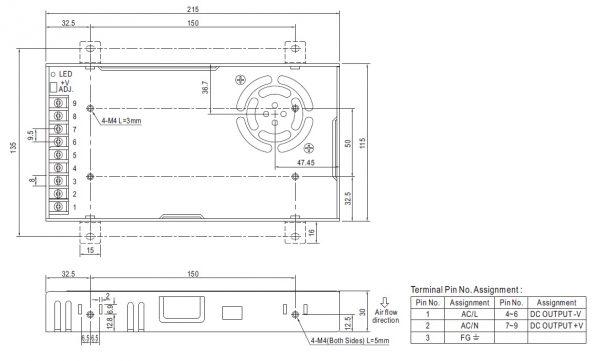 مشخصات مکانیکی LRS-350- 24