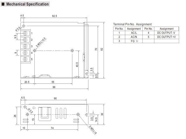 مشخصات مکانیکی LRS-50