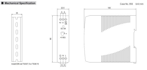 مشخصات مکانیکی MDR-20-12