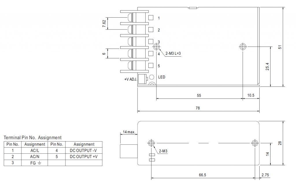 مشخصات مکانیکی RS-25-12