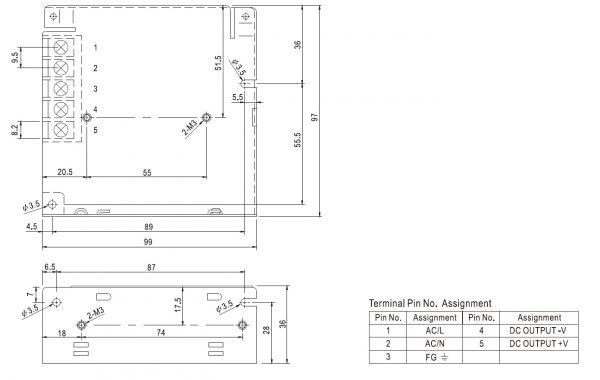مشخصات مکانیکی RS-50-12