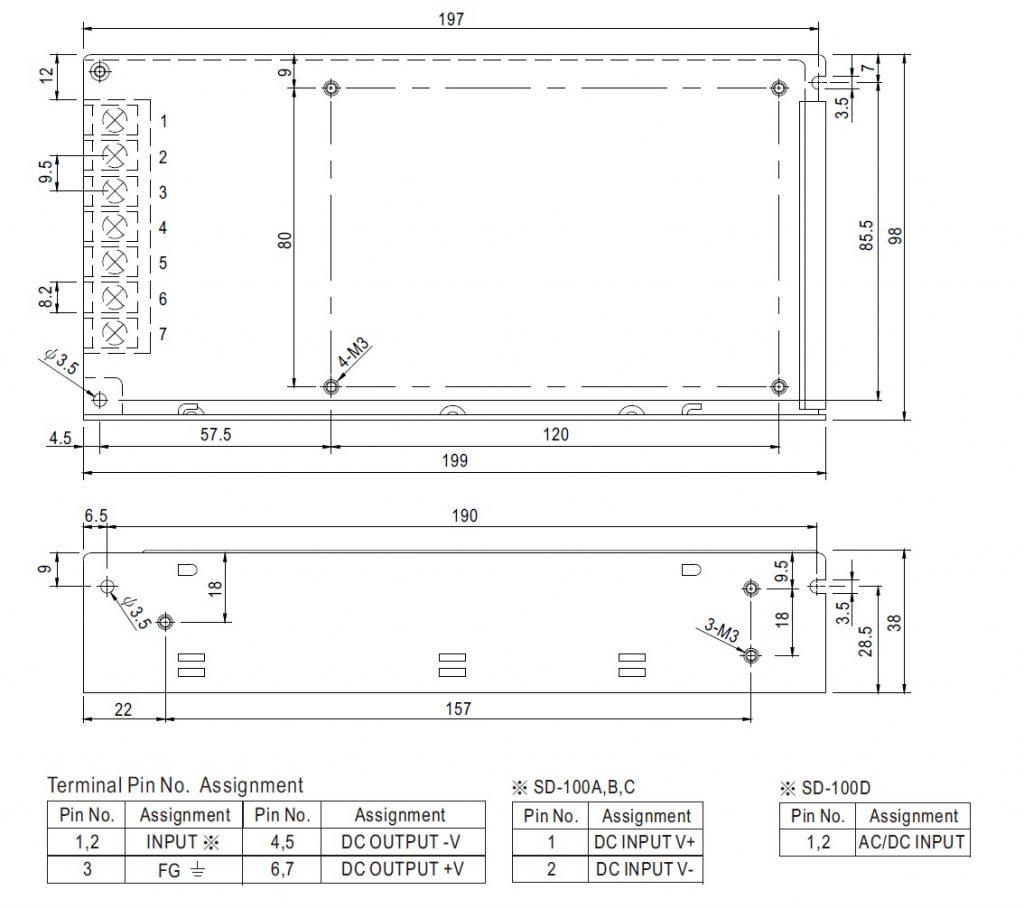 مشخصات مکانیکی SD-100C-24