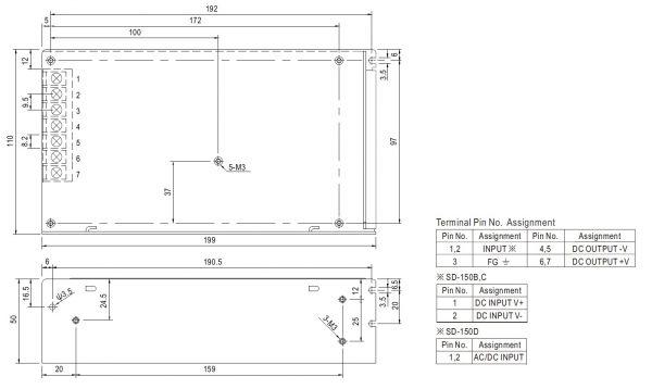 مشخصات مکانیکی SD-150D-24