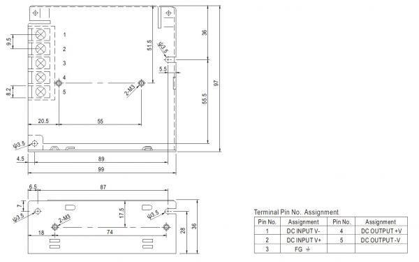 مشخصات مکانیکی SD-25B-24