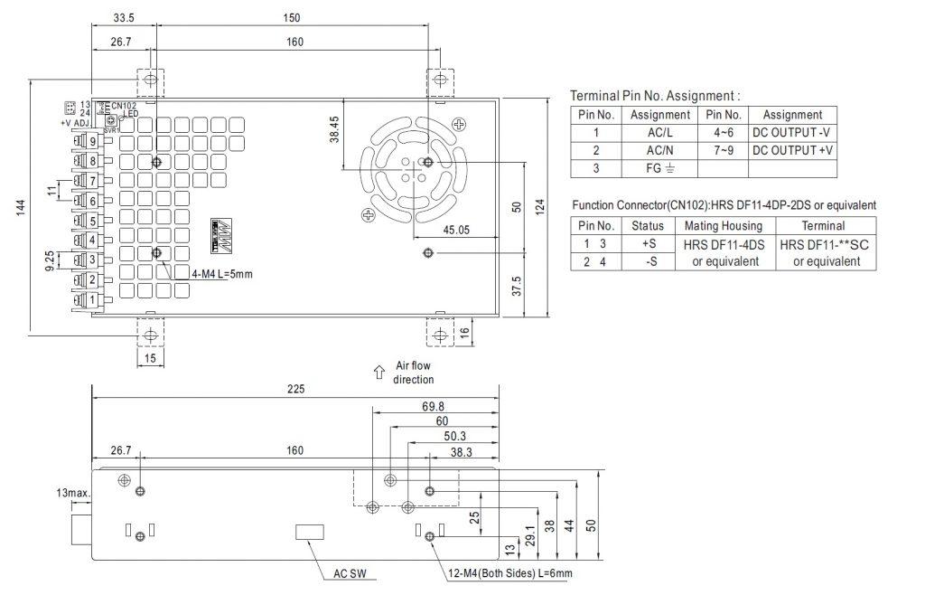 مشخصات مکانیکی SE-450