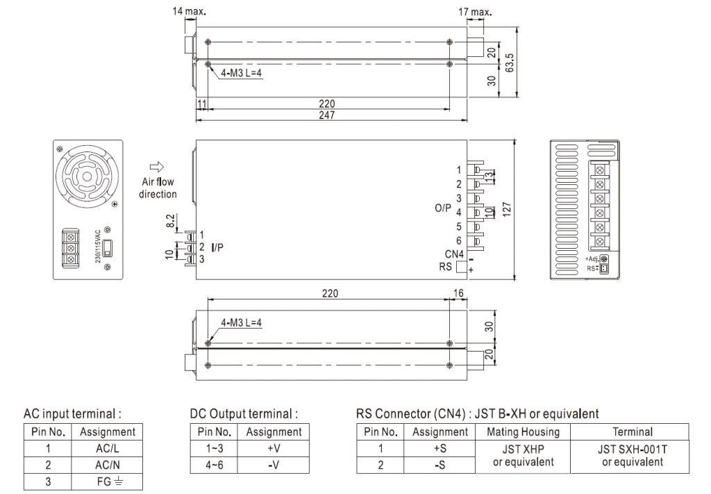 مشخصات مکانیکی SE-600-24