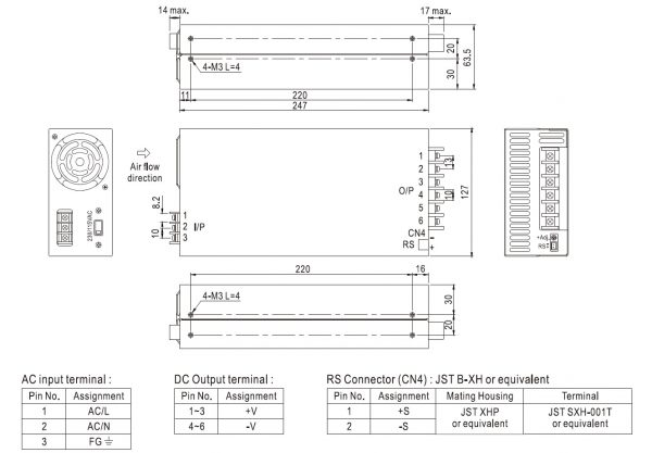 مشخصات مکانیکی SE-600-48