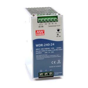 منبع تغذیه 24 ولت 10 آمپر مین ول WDR-240-24