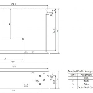 ابعاد محصول meanwell ad-55b