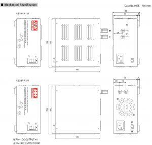 مشخصات مکانیکی ESC-240