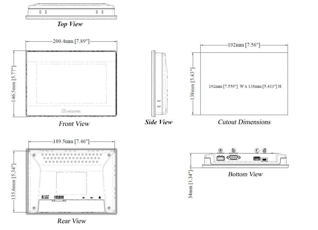 مشخصات مکانیکی MT6071