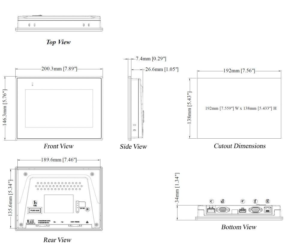 مشخصات مکانیکی MT8071