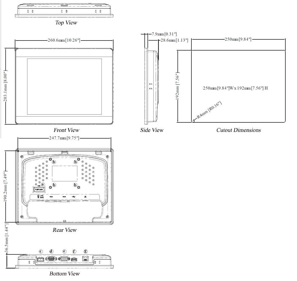 مشخصات مکانیکی MT8090