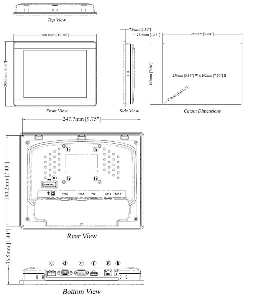 مشخصات مکانیکی MT8092
