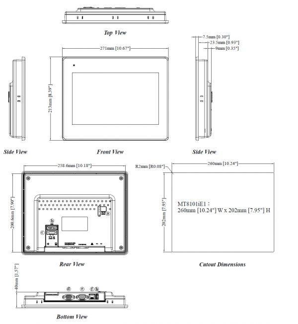 مشخصات مکانیکی MT8101