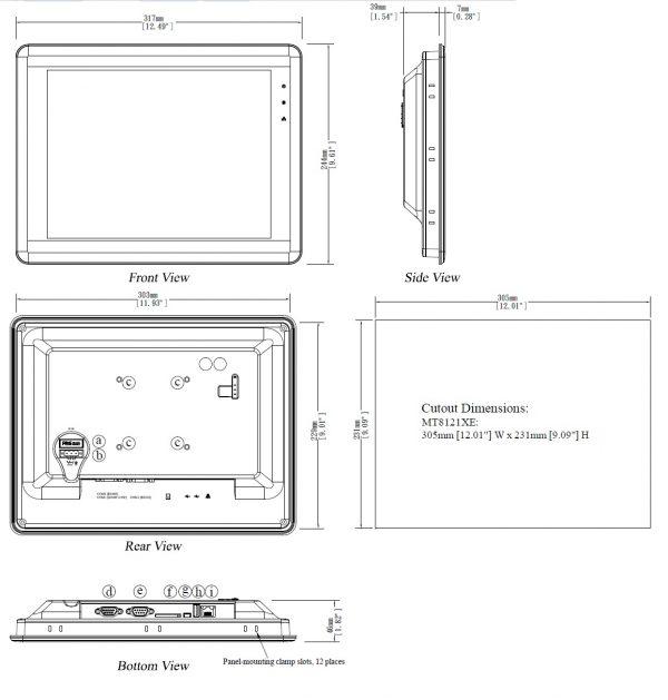 مشخصات مکانیکی MT8121