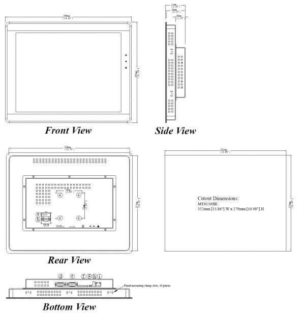 مشخصات مکانیکی MT8150